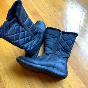 Totes Black Quilted Waterproof Winter Boots